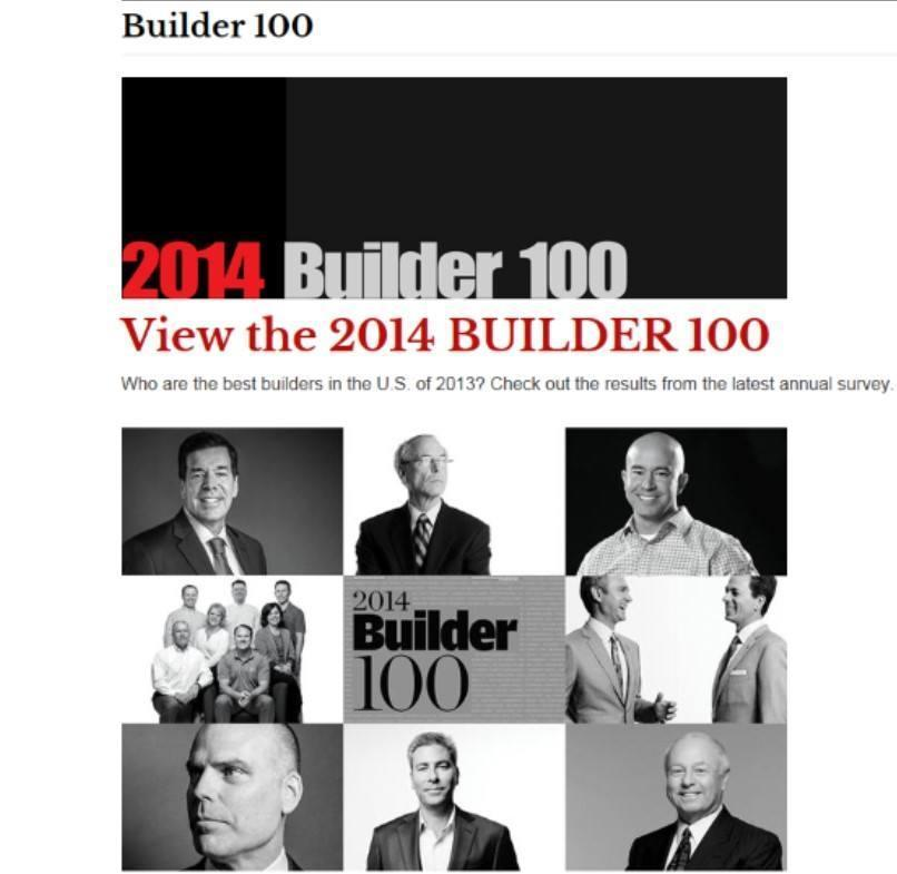 Blog Blog Archive Top National Builder Ranking For 2014
